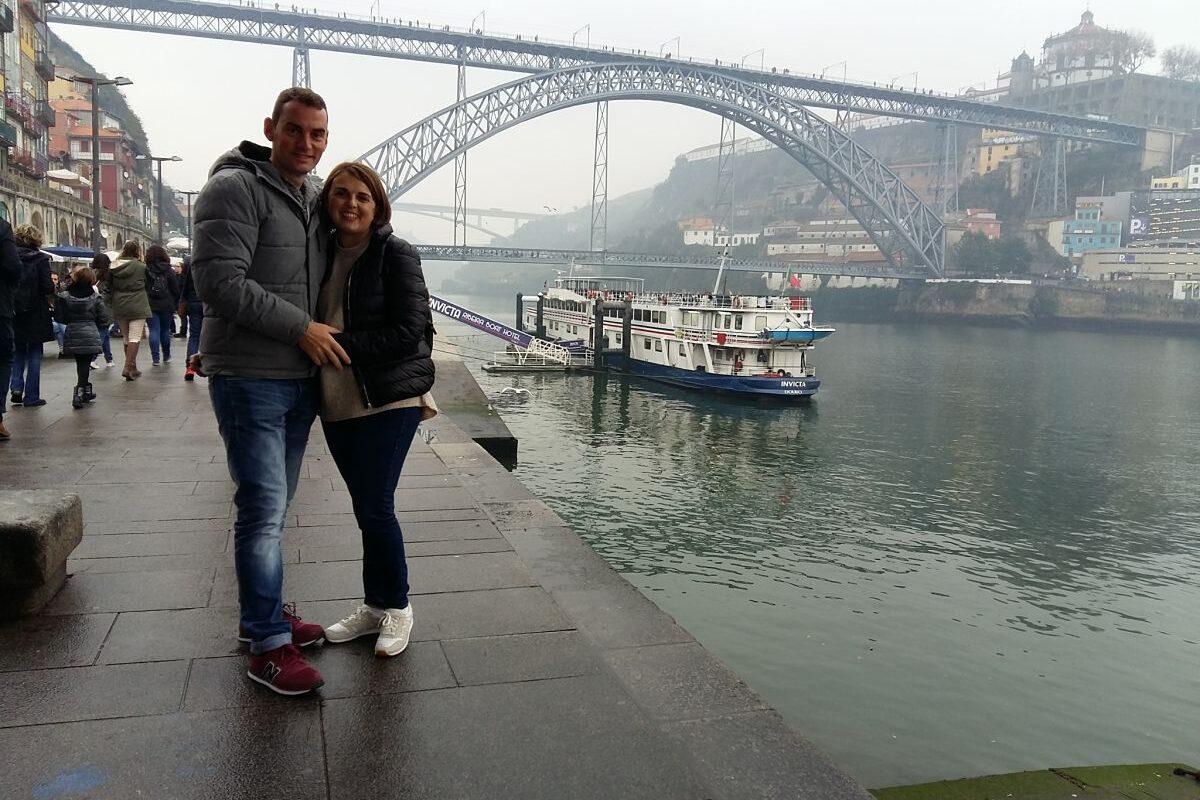 Andreu y Silvia en oporto