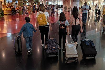 Diferentes maletas de mano