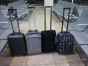 Diferentes maletas de cabina