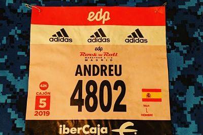 Maratón Madrid 2019 Dorsal