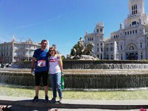 Al acabar el maratón de Madrid