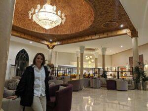Silvia a su llegada al hotel Ona Marrakech