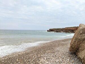 Foto de la playa nudista del riu de la sènia