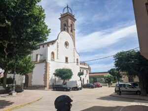 Fachada de la iglesia de Xerta