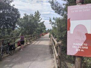 Via verde Val de Zafán, viaducto del algás