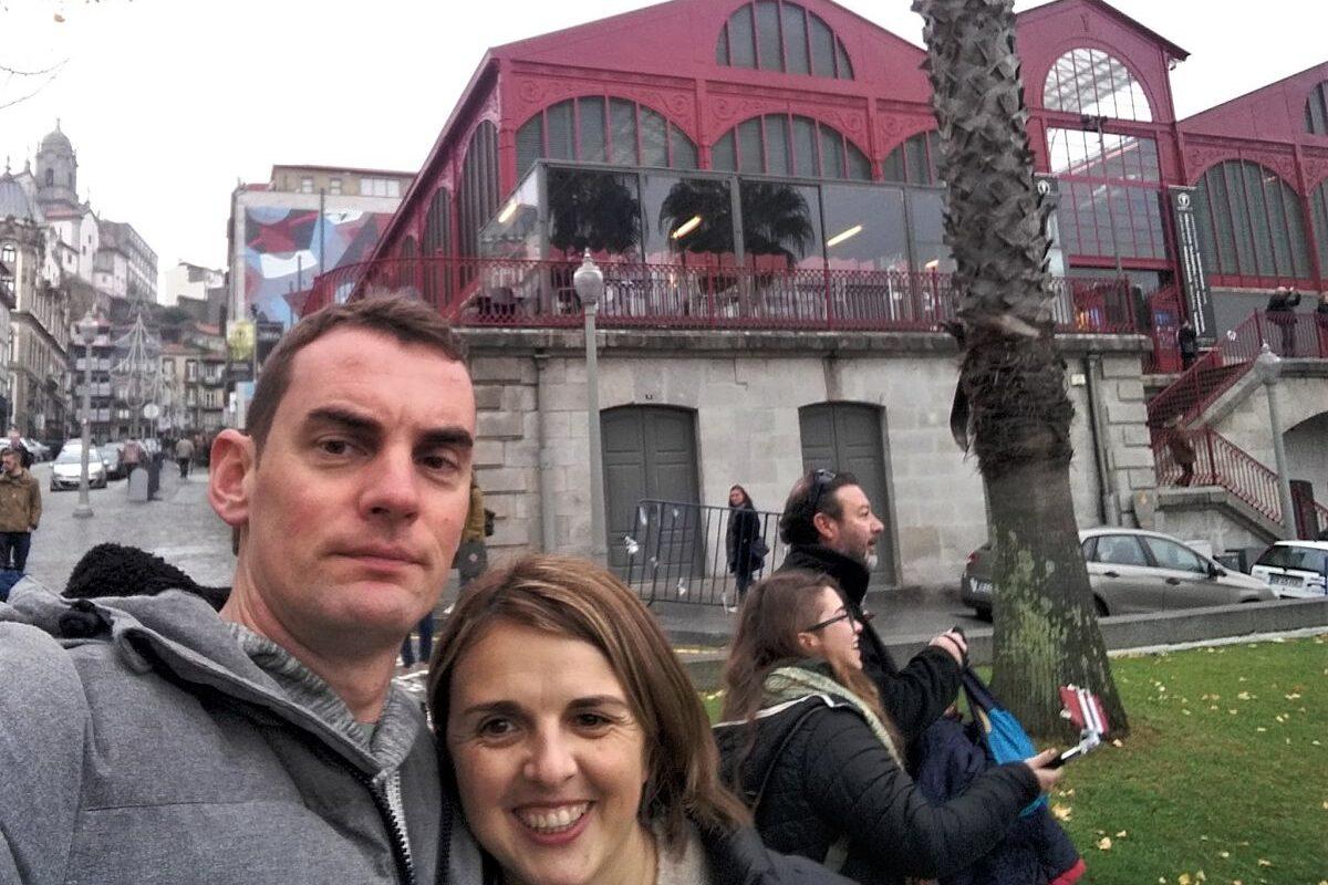 Selfie paseando por Oporto